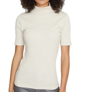 NWOT Anthro Sanctuary Ribbed Mock Neck Top